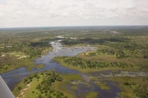 Okavango Delta von oben