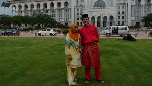 Mai 2010: Nach dem ersten Besuch eine malaysischen Hochzeit (Putrajaya)