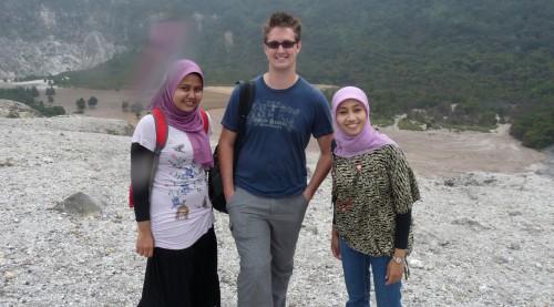 November 2010: am Vulkan in Indonesien