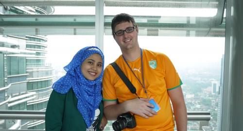 November 2012: Auf der Sky Bridge der Petronas Towers