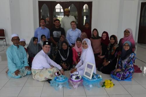 Offizieller Teil der Hochzeit in der Moschee