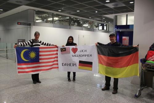 Ankunft in Deutschland